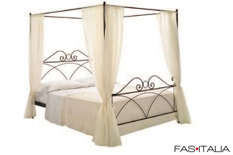 Letto matrimoniale a baldacchino in ferro fas italia - Baldacchino per letto matrimoniale ...